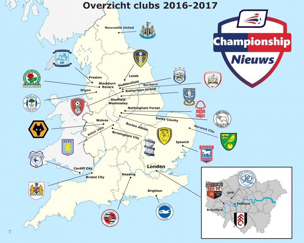 Overzicht clubs